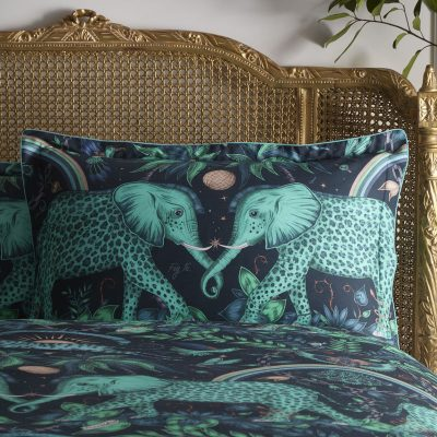 Emma J Shipley for Clarke & Clarke Zambezi Rectangluar Oxford Pillowcase Teal