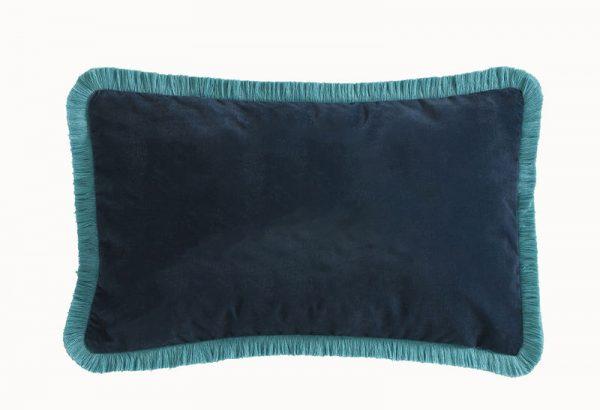 Emma J Shipley for Clarke & Clarke Zambezi Rectangular Cushion Teal reverse