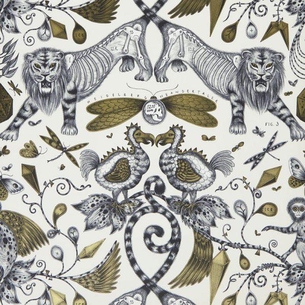 Emma J Shipley Wallpaper Extinct Gold