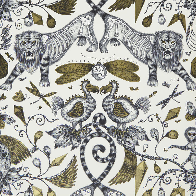 Emma J Shipley Wallpaper Extinct Gold