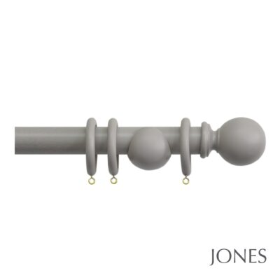 Jones Shore 35mm Wood Curtain Pole with Ball Finial