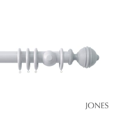 Jones Estate Handcrafted 50mm Wooden Curtain Pole Ribbed Ball
