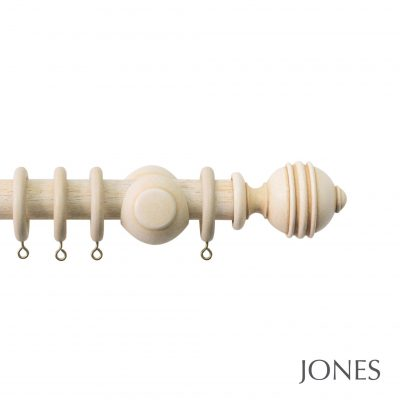 Jones Cathedral Handcrafted 30mm Wooden Curtain Pole Ely
