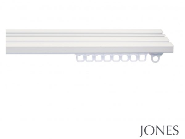 Jones Triple Aluminium Hand Drawn Curtain Track Ceiling Fitted