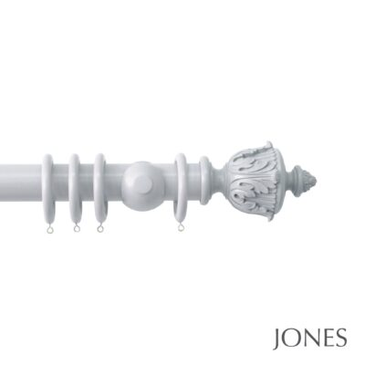 Jones Estate Handcrafted 50mm Wooden Curtain Pole Acanthus