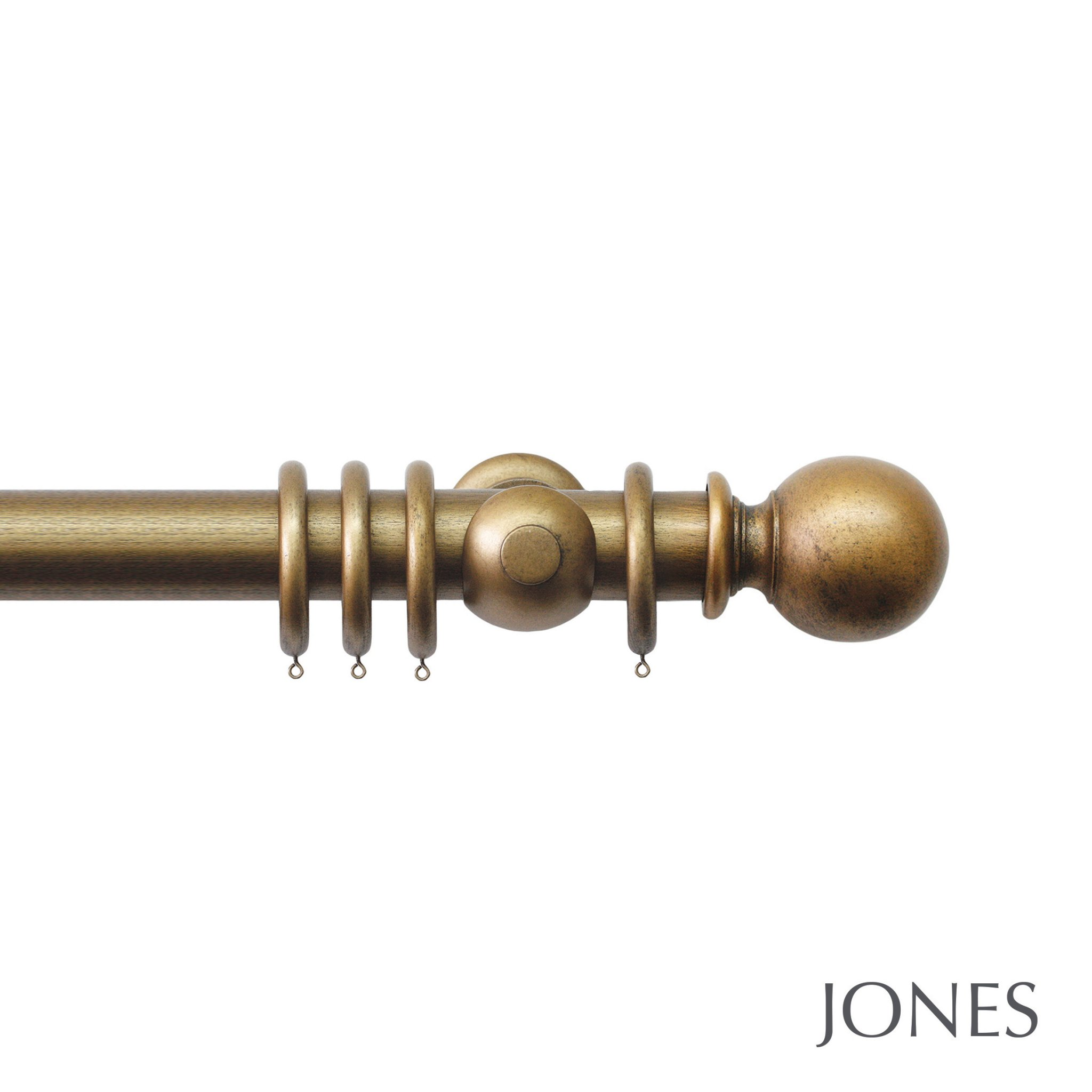 Jones Grande Handcrafted 63mm Wooden Curtain Pole Ball