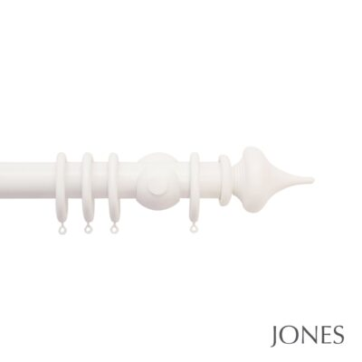 Jones Hardwick Handcrafted 40mm Wooden Curtain Pole Minaret