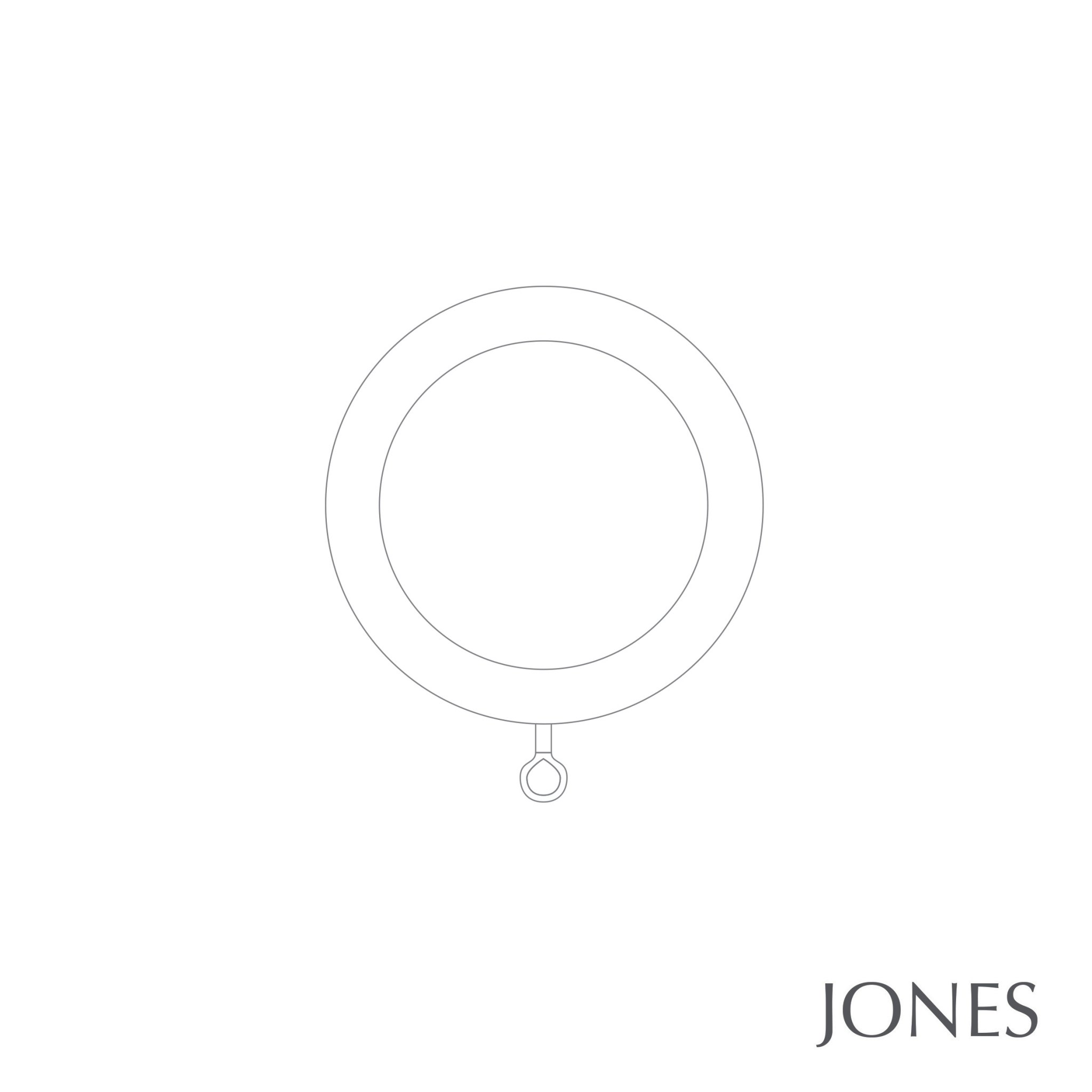 Jones Seychelles Handcrafted 40mm Wooden Curtain Pole End