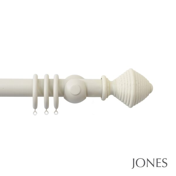 Jones Seychelles Handcrafted 40mm Wooden Curtain Pole Hive