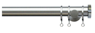 Jones Lunar 28mm Metal Curtain Pole with End Cap Finials