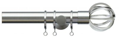 Jones Lunar 28mm Metal Curtain Pole with Cage Finials