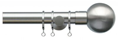 Jones Lunar 28mm Metal Curtain Pole with Sphere Finials
