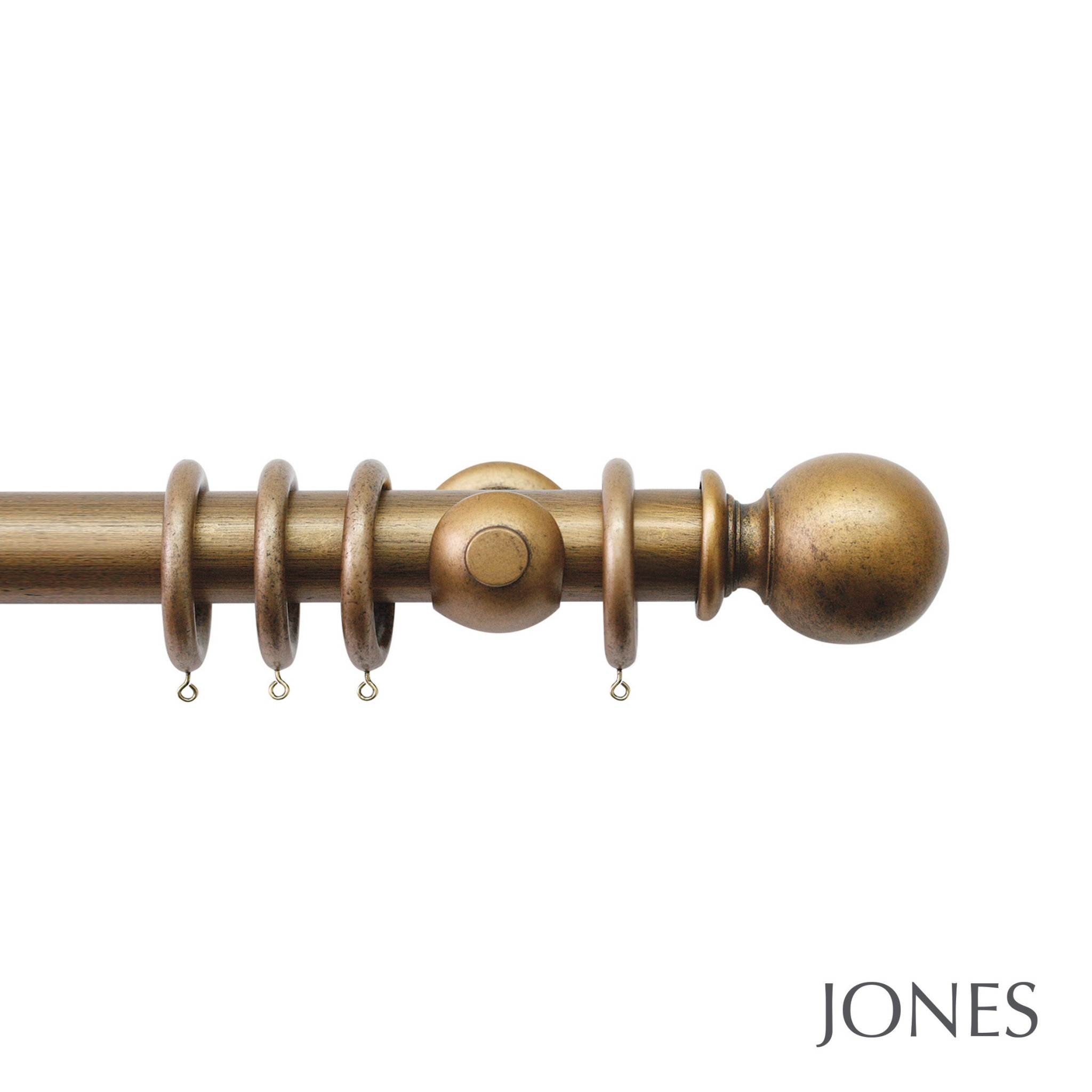 Jones Florentine Handcrafted 50mm Wooden Curtain Pole Ball