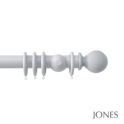 Jones Estate Handcrafted 50mm Wooden Curtain Pole Ball