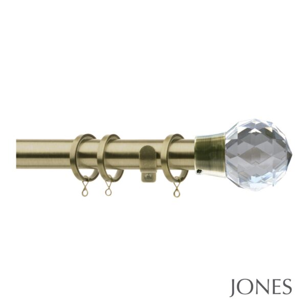 Jones Quartz 28mm Metal Curtain Pole