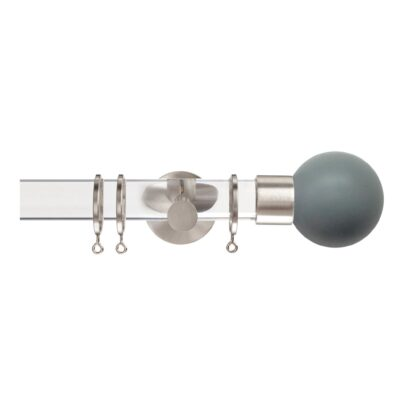 Jones Strand 35mm Acrylic Curtain Pole with Lead Ball Finials