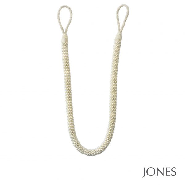 Jones Interiors Tahiti Rope Curtain Tieback Pearl