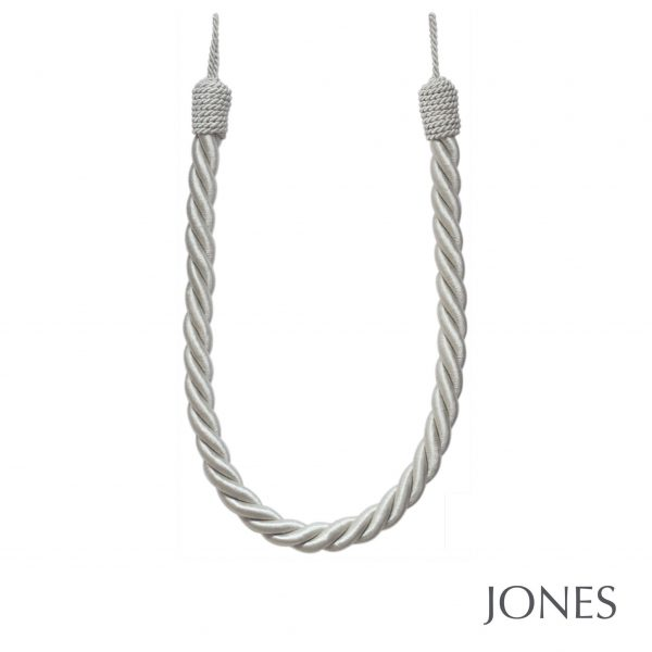 Jones Interiors Reef Rope Curtain Tieback Silver
