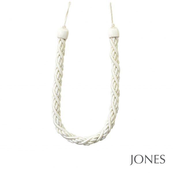 Jones Interiors Portobello Talbot Rope Curtain Tieback Ivory