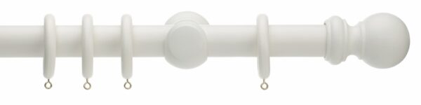 Rolls Honister Ball 35mm Wood Curtain Pole
