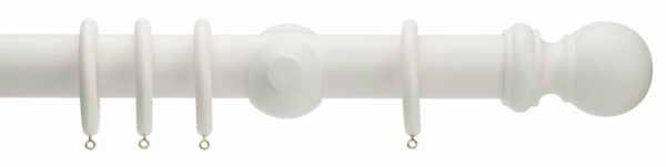 Rolls Honister Ball 50mm Wood Curtain Pole