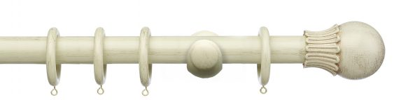 Integra Masterpiece 35mm Wooden Curtain Pole Elizabethan Orb