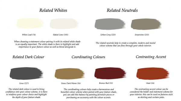 Little Greene Paint Complimentary Colours Light Gold (53)