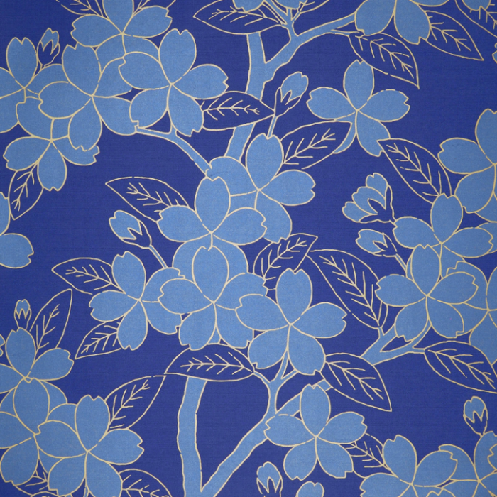Little Greene Camellia Wallpaper Smalt