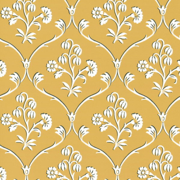 Little Greene Cranford Wallpaper Wheat
