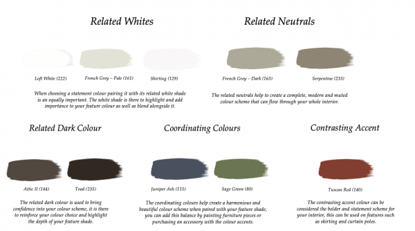 Little Greene Paint Complimentary Colours French Grey 113