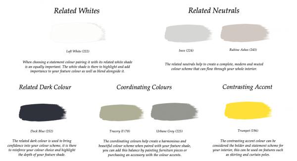 Little Greene Paint Complimentary Colours Loft White 222