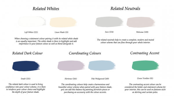Little Greene Paint Complimentary Colours Pale Lupin 278