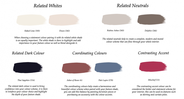 Little Greene Paint Complimentary Colours Perennial Grey 245