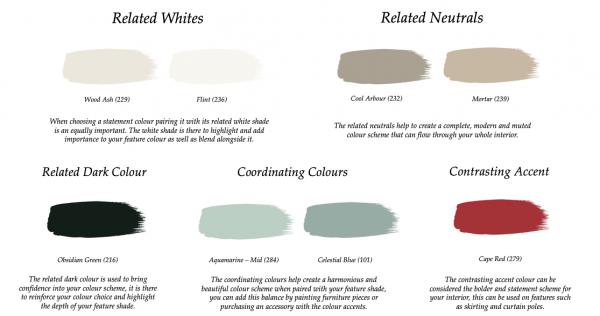 Little Greene Paint Complimentary Colours Pleat 280