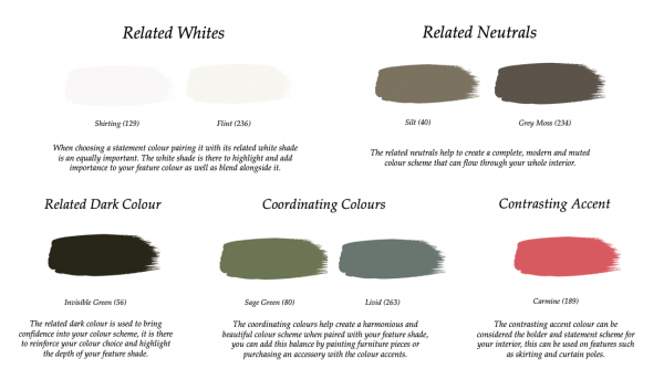 Little Greene Paint Complimentary Colours Portland Stone Family