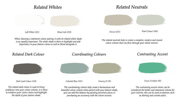Little Greene Paint Complimentary Colours Wood Ash 229