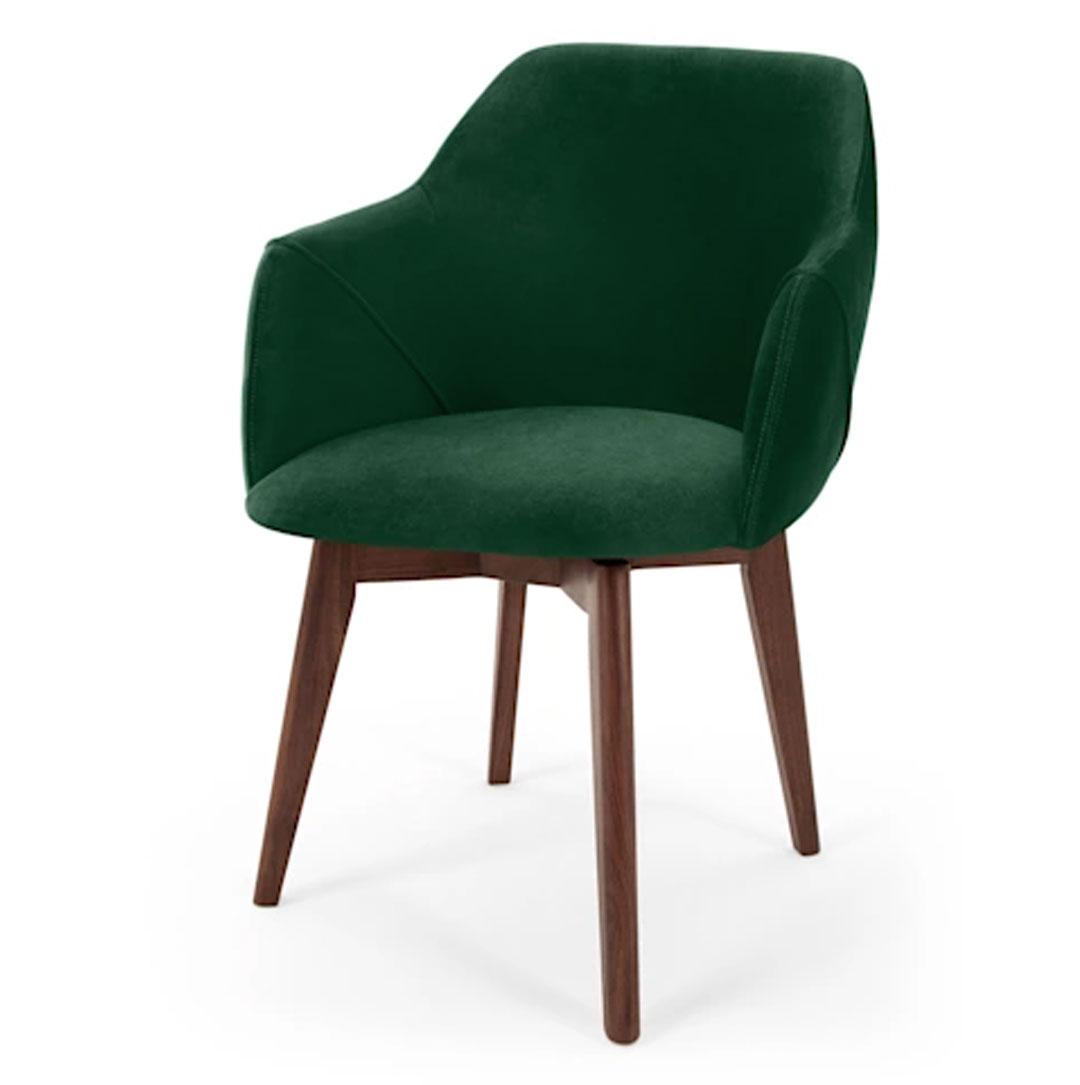 Lule Office Chair, Pine Green Velvet