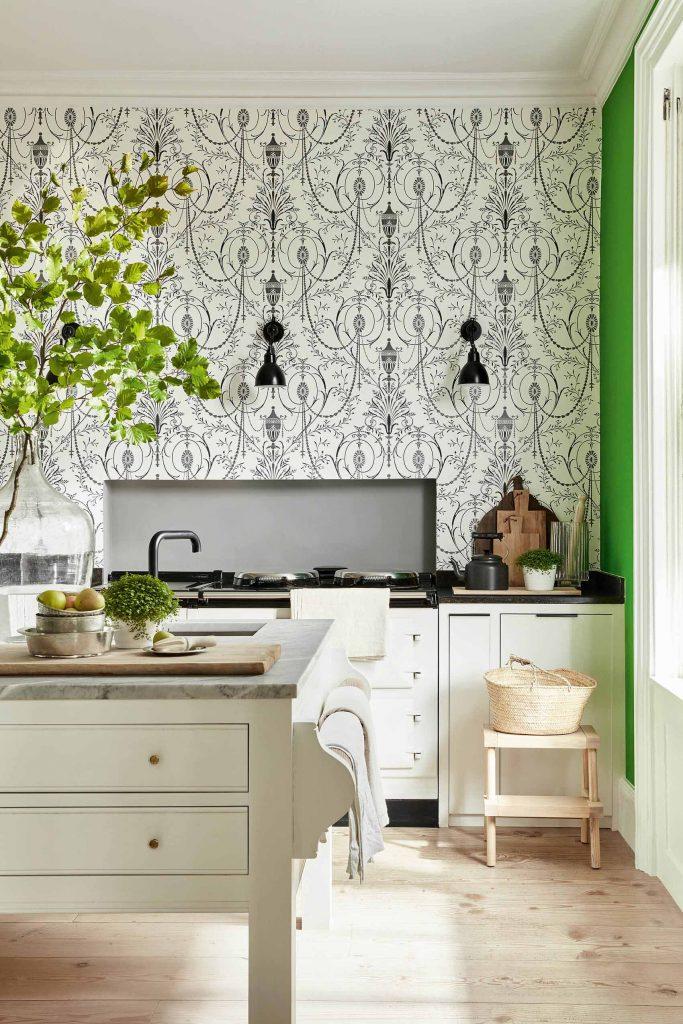 Little Greene Marlborough Wallpaper