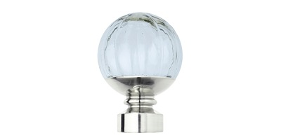 28MM NEO CLEAR PUMPKIN BALL FINIAL STAINLESS STEEL