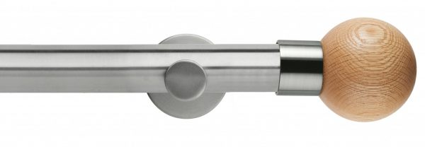 Rolls Neo Metal Curtain Pole 35mm Oak Stud