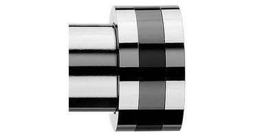 Integra Inspired Nuance 28mm Strata Finial Chrome/Black Nickel