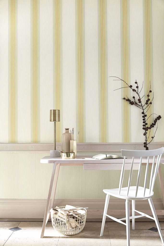 Ombré Stripe-Plain - Lichen-Doric_Little Greene Paint