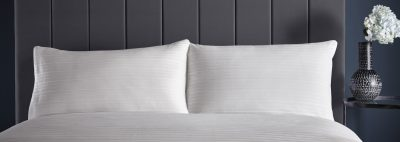 KAREN MILLEN PLEAT DETAIL HOUSEWIFE PILLOWCASE PAIR