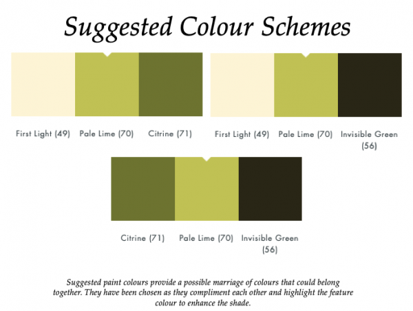 Pale Lime (70)_Little Greene Suggested Colour Scheme