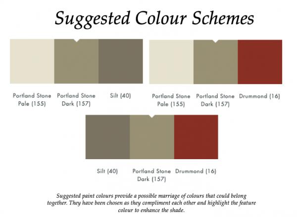 Portland Stone Dark (157)_Little Greene Suggested Colour Scheme