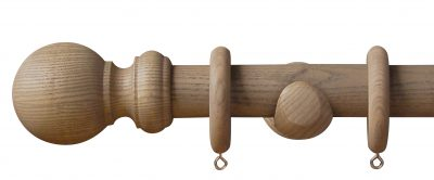Swish Forever Autumn Ball 35mm Wood Curtain Pole