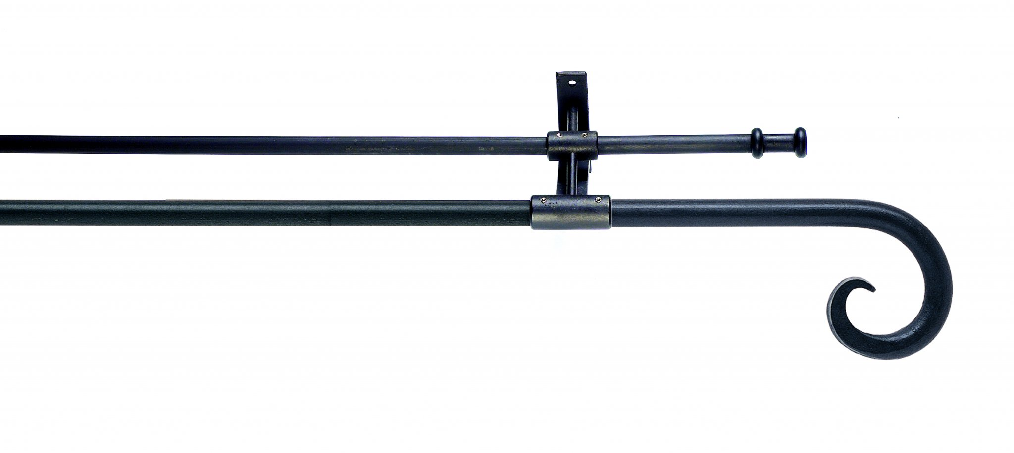 Artitsan Wrought Iron Double Curtain Pole 12mm 16mm Curl