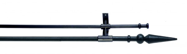 Artitsan Wrought Iron Double Curtain Pole 12mm / 16mm Ball and Spear