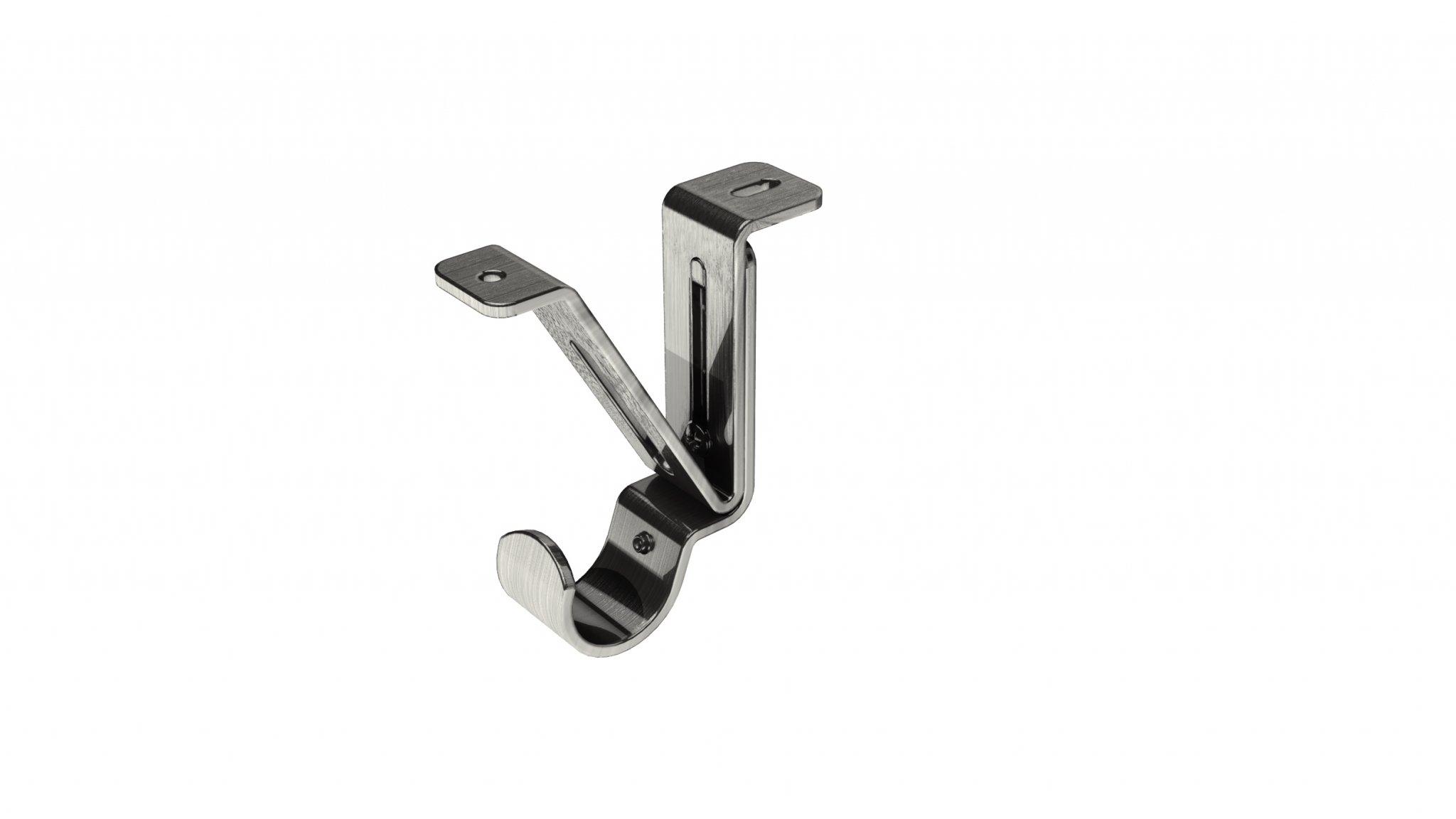 4 Pack Swish 19mm Curtain Pole Rings Satin Steel