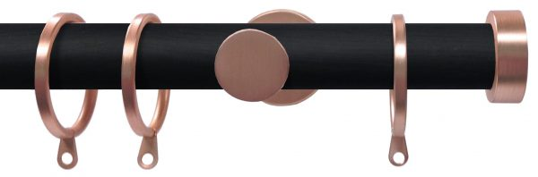 Swish Soho Stud 28mm Wood Curtain Pole